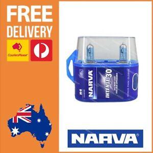 Narva H4 Globe Intense + 30% Performance 12v Twin Pack Blue Look Light 48472BL2