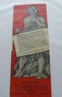 Unique Vintage 1920s Tarzan Bookmark Grosset & Dunlap