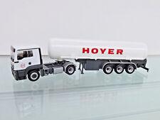 """Herpa 308618 - 1:87 - MAN TGS L C benzintank-sz"""" HOYER Largo"""" - Nuevo en EMB."""