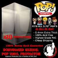 """FUNKO 3.75"""" POP VINYL PROTECTOR DISPLAY CASE HIGH GRADE EXTRA THICK X 10 CASES"""