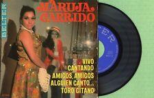 MARUJA GARRIDO / Vivo Cantando - Toro Gitano / BELTER 52.300 Spain 1969 EP EX