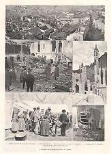 COMUNE DI CAIRATE VARESE LOMBARDIA INCENDIO CATASTROFE DISTRUZIONE 1900