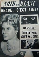 MONACO GRACE KELLY en COUVERTURE de NOIR et BLANC No 890 DE 1962