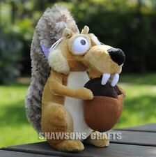 """ICE AGE PLUSH STUFFED TOYS 7"""" SCRAT THE SQUIRRELS SOFT DOLL"""