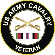 "Army Cavalry Afghanistan Veteran 5.5"" Decal / Sticker"