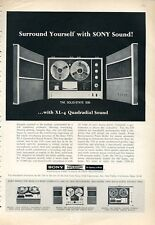 1966 Sony Superscope Reel to Reel Models XL-4 Quadradial Sound PRINT AD