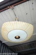 des années 1950 60er plafonnier Shine LAMPE VERRE ABAT-JOUR laiton hänge 50 60s