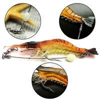 5Pcs Lifelike Simulation Shrimp Prawn Fishing Lures Luminous Bead Hook Bait Well