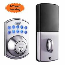 Tacklife Electronic Deadbolt Door Lock, Keypad Deadbolt Lock with 1-Touch Motori