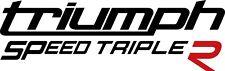 Triumph Speed Triple R 2 Aufkleber Decal Moto Biker 21 Farben zur Auswahl