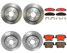 Front & Rear Full Brembo Brake Kit Disc Rotors Ceramic Pad For 300 C Charger R/T