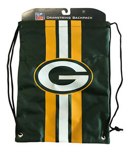 NFL Green Bay Packers Official NFL Drawstring Backpack Bag Gift Lunch School