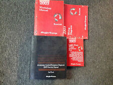 2003 FORD RANGER TRUCK Service Shop Repair Manual Set W EWD Specs + Powertrain