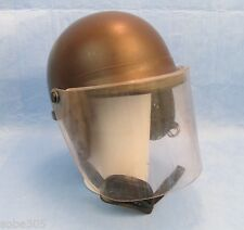 Premier Crown Corp Model C-3 906 Riot Helmet w/ Face Shield - Brown, Medium