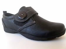ladies black dr keller touch fasten comfort low wedge casual NURSE  shoes size 3