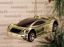 AUDI AVUS QUATTRO CONCEPT CAR SILVER/CHROME CHRISTMAS TREE ORNAMENT XMAS