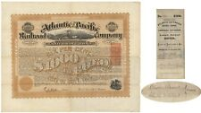 Atlantic and Pacific Railroad Bond Signed by Oliver Ames