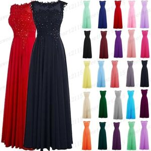 Long Women Wedding Bridesmaid Dress Formal Party Prom Ball Gown Evening Dresses