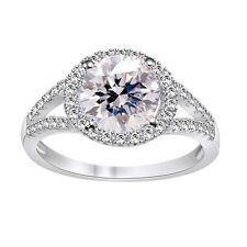 3.56ct D-h-=Color vvs1/Great White Engagement Gorgeous .925 Silver Ring-Video