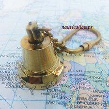 Nautical Brass Ship Bell Keychain mini bell ring Fully Handmade Vintage Gift