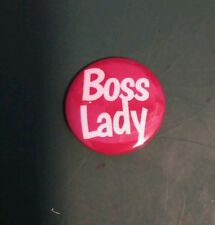 BOSS LADY. 25mm pin badge. Are you the boss? Let them know. *free post*