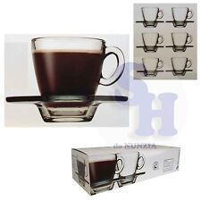 Pasabahce 6 tazzine Caffè con Piatto Aqua Prima colazione
