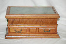 Vintage Style Marble Top Wooden Jewerly Box by Montgomery Ward Vanity Decor