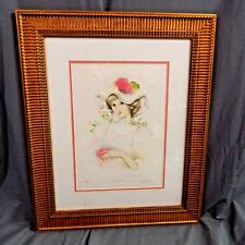 SPRING FLOWERS Limited Edition EMBOSSED SERIGRAPH  by MARY VICKERS with COA