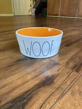 "Rae Dunn 8"" Woof Dog Now Orange Inside"