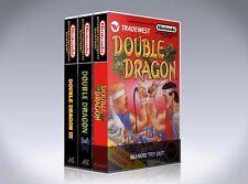NEW custom game storage case DOUBLE DRAGON 1, 2, and 3 NES -No Game- I, II, III