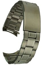 Edelstahluhrarmband 20 mm Rundanstoss Faltschliesse Uhrband