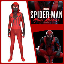 Miles Morales Crimson Cowl Costume Marvel Spider-Man PS5 Cosplay Adult & Kids