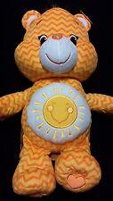 "CARE BEARS Jumbo 20"" Yellow FUNSHINE Sunshine Sun Soft Stuffed Toy Bear - ZigZag"