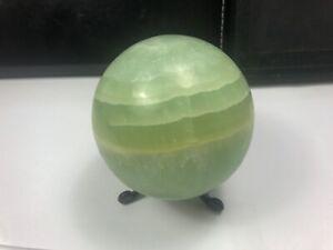 New Find Top Grade Pishtachio Calcite,Green Calcite,Crystal Sphere Pakistan PC91