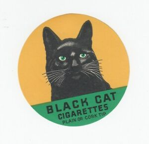 Vintage Black Cat Cigarettes Decal