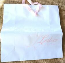 Judith LEIBER Paper Shopping Bag Shopper White PINK Logo Large NEW