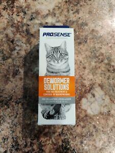 *NEW SEALED*Pro-Sense Liquid Cat Dewormer Solutions Treatment Roundworm 4 fl Oz
