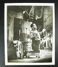Autographe photographie signée acteur cinéma LeVern Hutcherson Porgy & Bess 1930