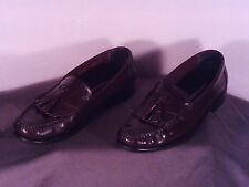 Size 8 1/2M HUSH PUPPIES Loafers Comfortable Moc Toe W/ Tassells See Pics (j134)