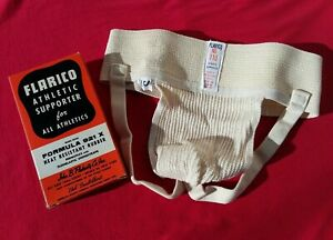 VINTAGE FLARICO NUMBER 110 JOCKSTRAP-ATHLETIC SUPPORTER  IN MEN'S SIZE SMALL