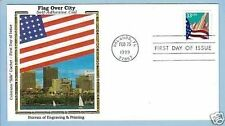 Colorano 3281 Flag Over City Skyline BEP Self-Adhesive Coil Stamp Orlando Cover