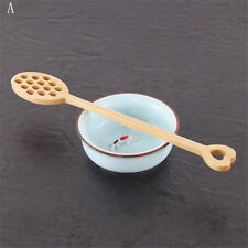 1pc Natural Wooden Honey Coffee Spoon Ice Cream Candy Teaspoon~
