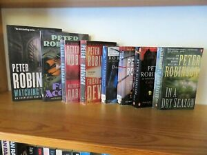 PETER ROBINSON, Collection of 8 Paperback Books, Chief Inspector Alan Banks