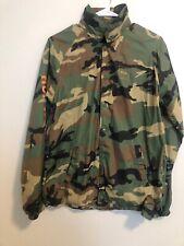 HUF Worldwide Jacket Windbreaker Army Print Mens Size Small