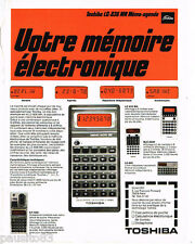PUBLICITE ADVERTISING 085  1978  TOSHIBA  la calculatrice