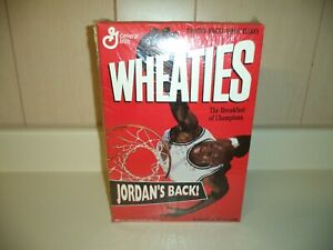MICHAEL JORDAN 1995 WHEATIES BOX WRAPPED IN PLASTIC EMPTY JORDAN'S BACK BULLS