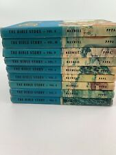 The Bible Story By Maxwell children's book set Volume 2-10 1954-1957