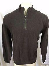 Tommy Bahama Brown 1/2 Zip Pullover Sweater Sweatshirt sz XL