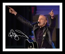 NEIL DIAMOND AUTOGRAPHED SIGNED & FRAMED PP POSTER PHOTO 1