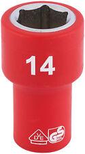 ORIGINAL DRAPER 0.6cm Carré Clé entièrement isolé VDE prise (14mm) 31492